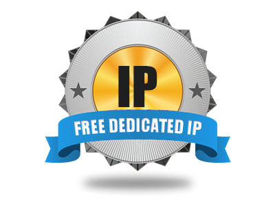 A free–of–charge Dedicated IP